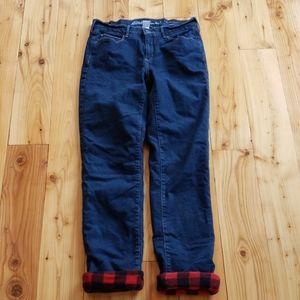 Eddie Bauer 6 curvy straight fleece lined jeans